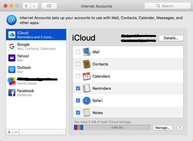 Mac OSX Hi Sierra Contacts doesn't sync with Google Contacts