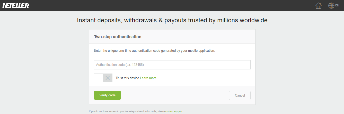 I lost my google authenticator app and did NOT have any