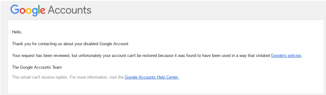 How do I recover a disabled gmail account? - Gmail Help