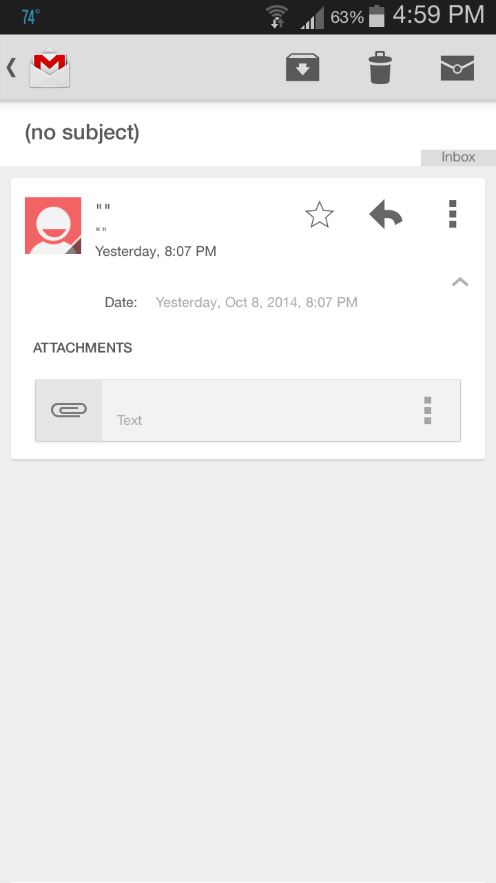 Gmail Android app shows blank email in inbox - Gmail Help