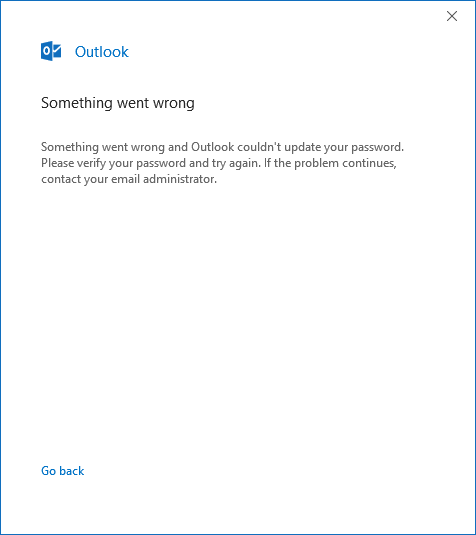 I can't change my gmail password in outlook, windows 10