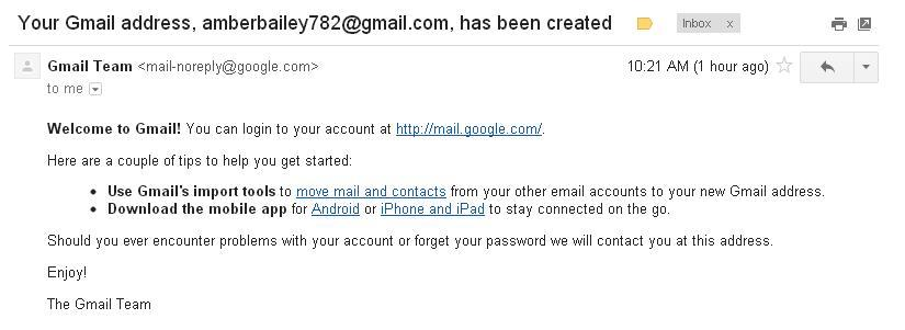 Your Gmail Address which not belongs to me - Gmail帮助