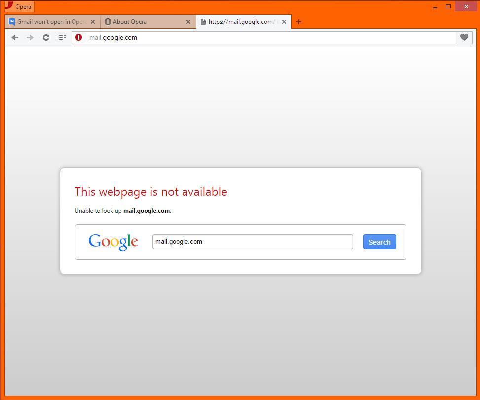 Gmail won't open in Opera - Gmail Help