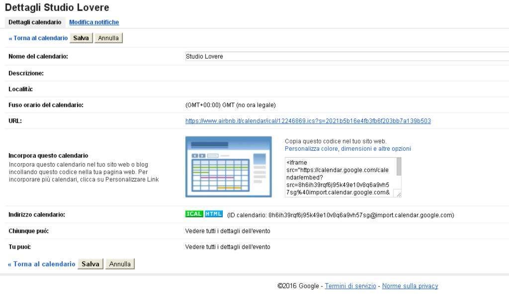 Calendario Condiviso Gmail.Impostare Solo Disponibile Occupato In Un Calendario