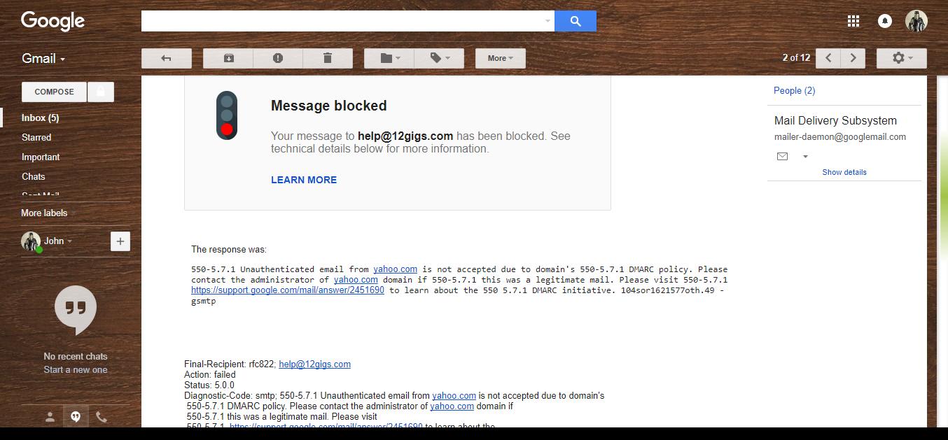 Message blocked? - Gmail Help
