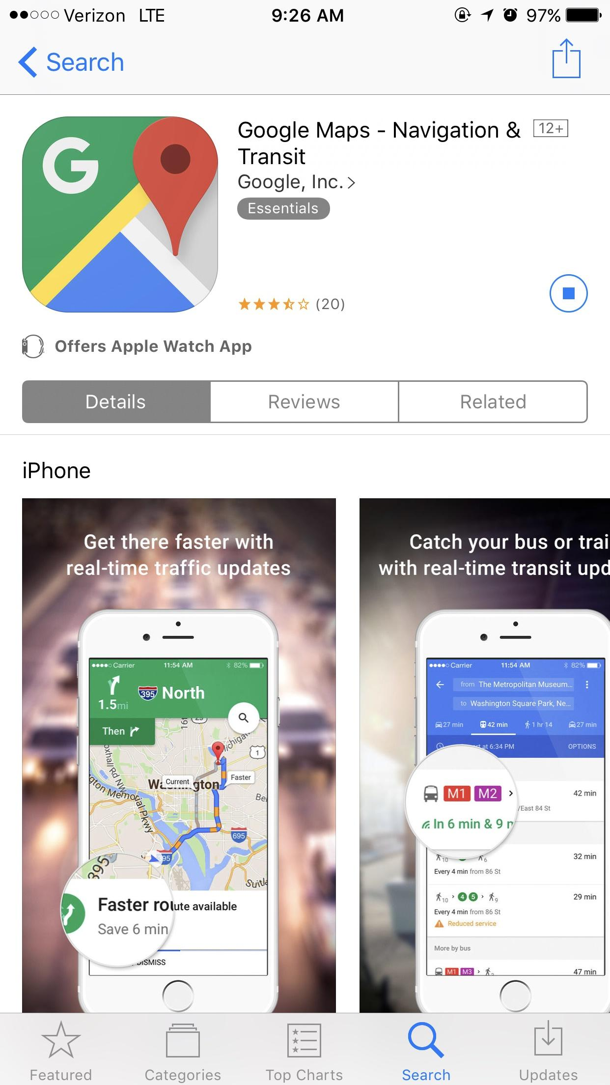 Cannot download Google Maps on iPhone 7 Plus from App Store ... on google links, google annual report, google privacy, eclipse download, google articles, google social media, google services, google background, google facebook, google help, linux download, google desktop site, google contact, google apps button, google chrome, google icon download,