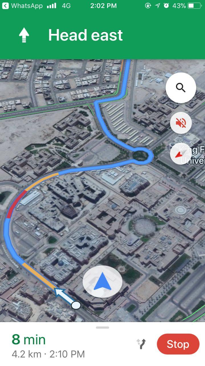 Problem with Google maps arrow not tracking the route - Google Maps Help