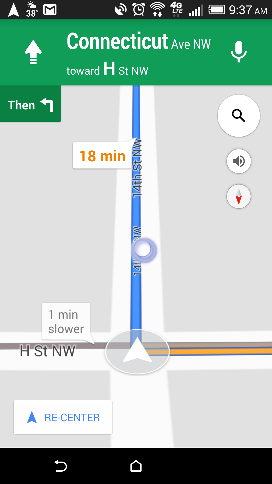 Strange circle appears on (Android) Google Maps Navigation and ... on