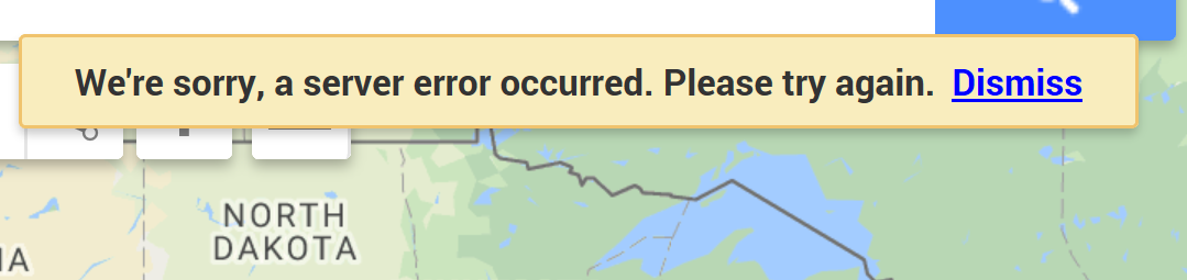 getting error when importing excel files into google maps