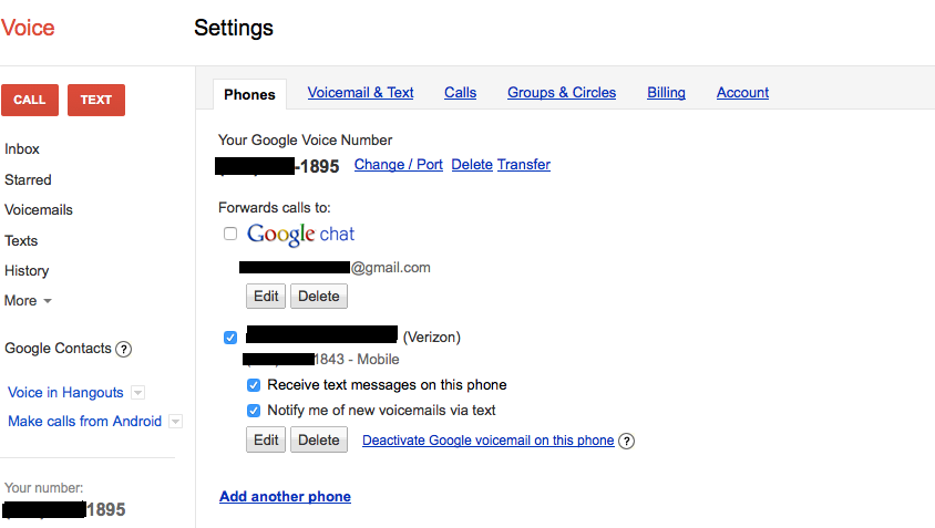 Calls to my Google Voice number are not forwarding - Google