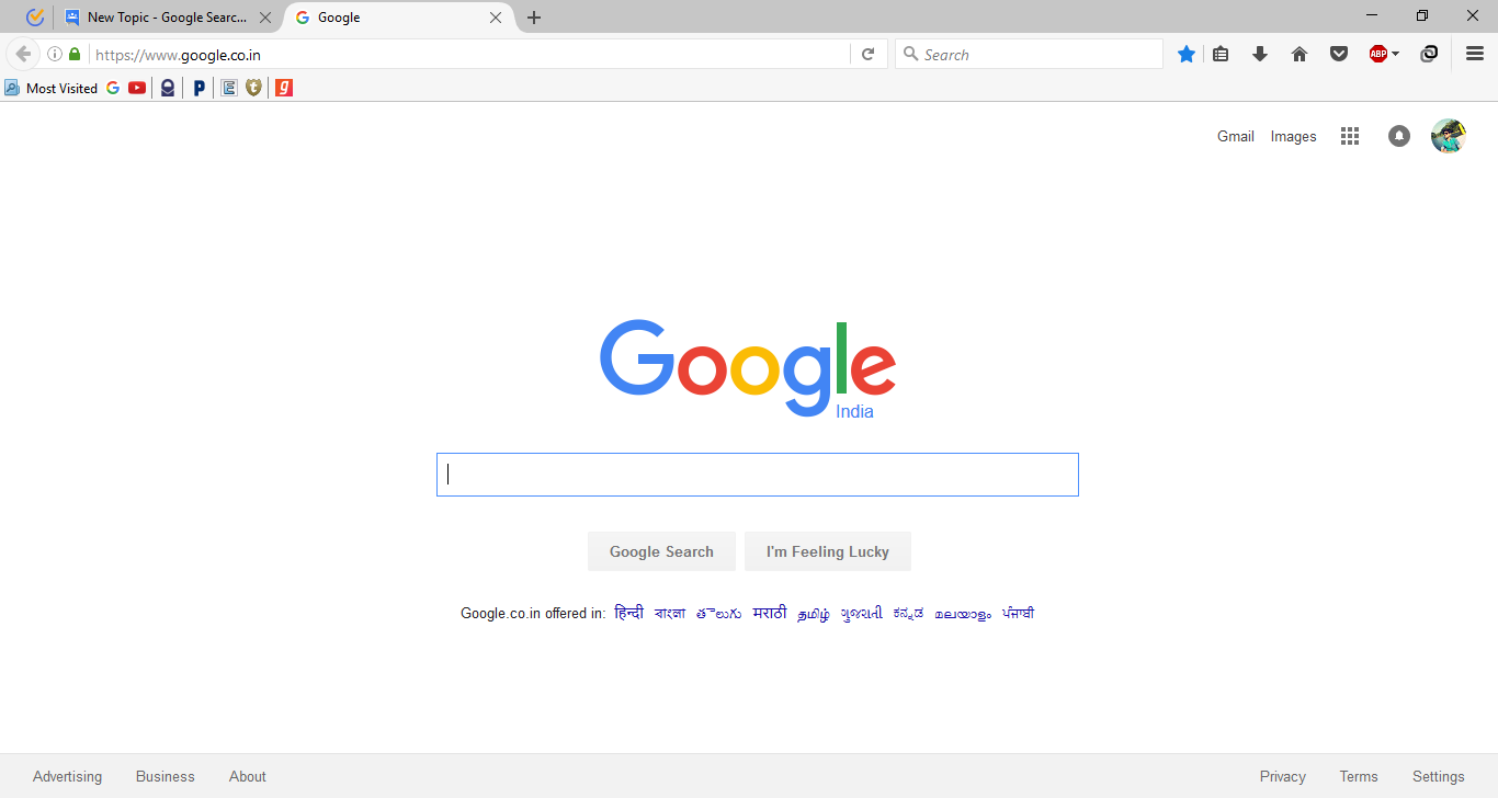 Google Search page switched back to older version - Google