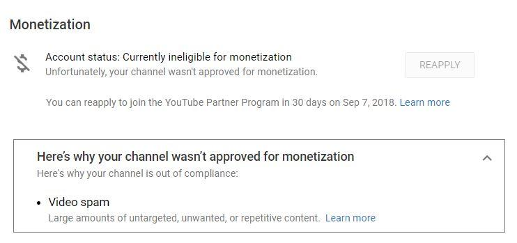 Large amounts of untargeted, unwanted, or repetitive content