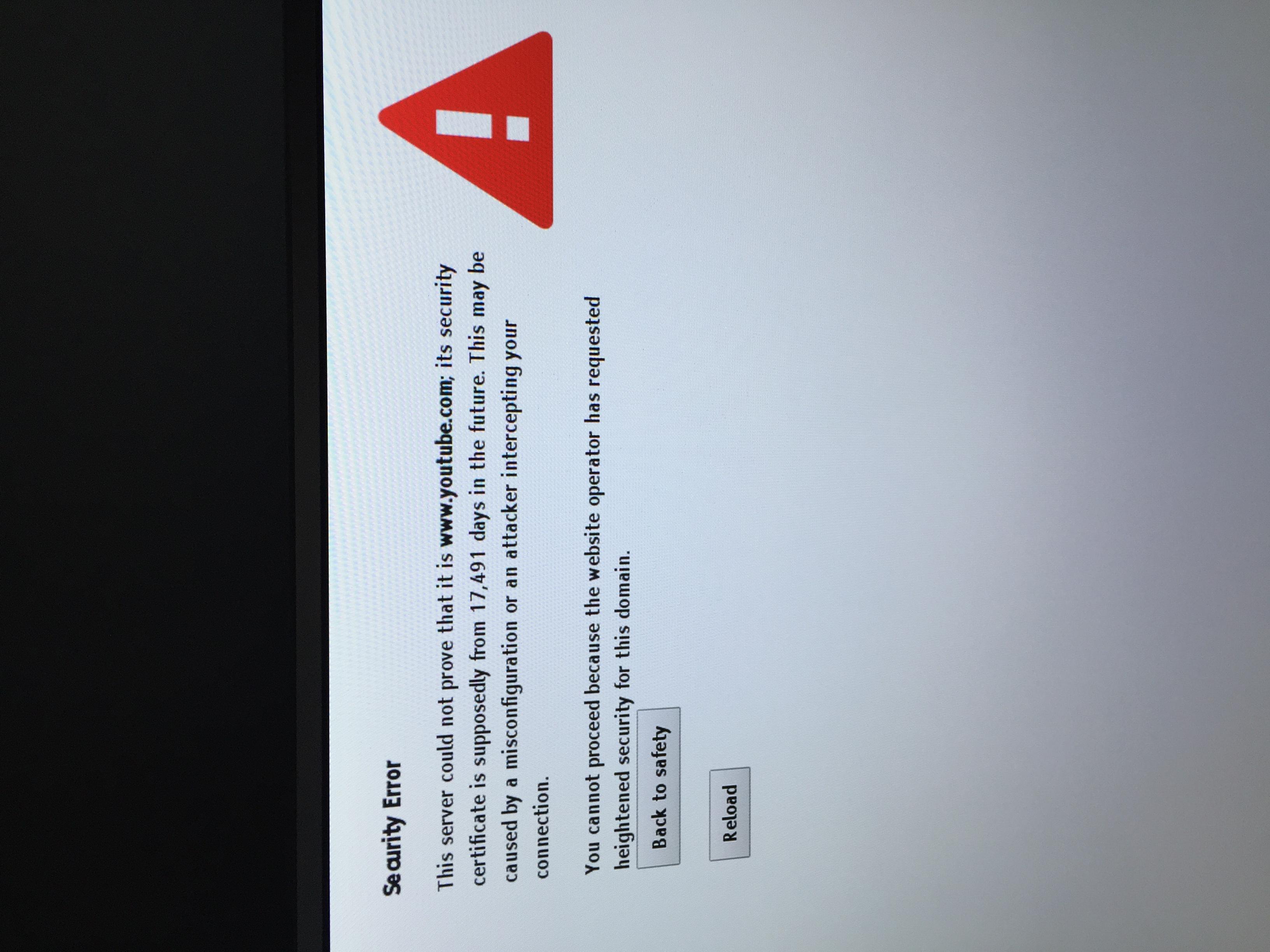 Youtube Security Error Message - YouTube Help