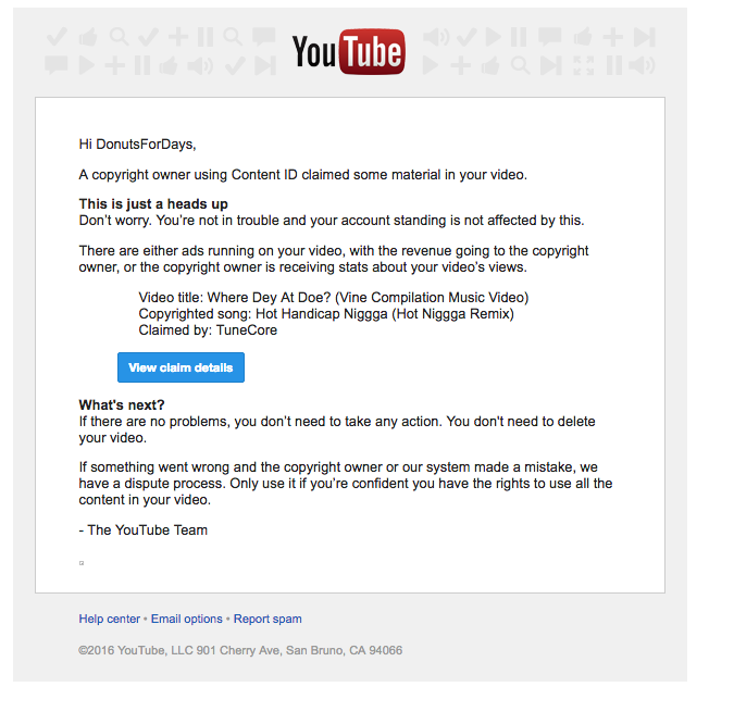 WHY DO PEOPLE KEEP PUTTING FALSE COPYRIGHT CLAIMS ON MY