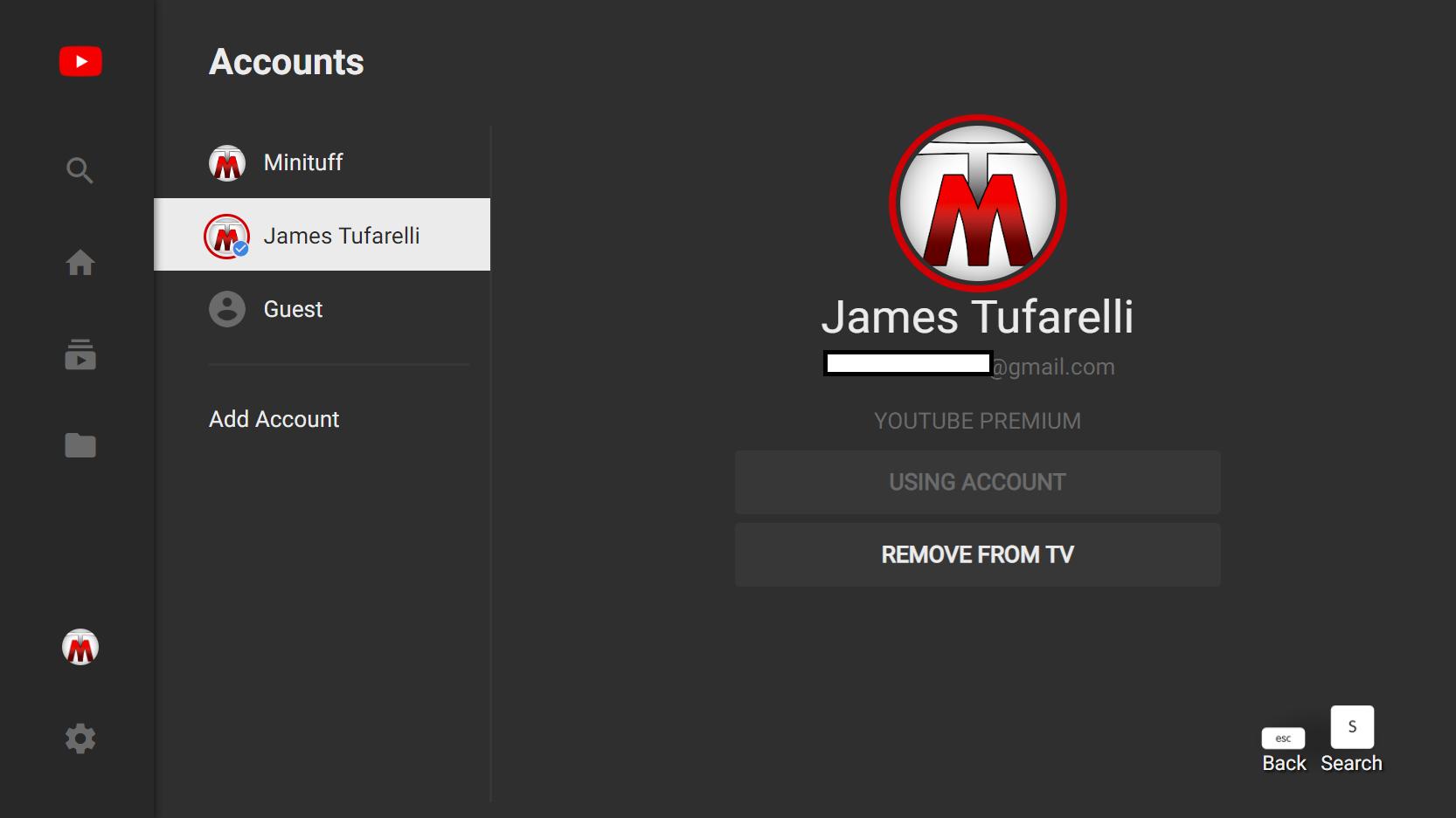 YouTube Premium not working on my Brand Account (TV