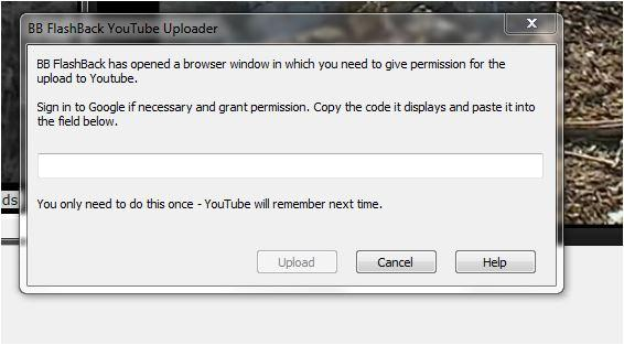 When Uploading My Recording I get a request for a Permission