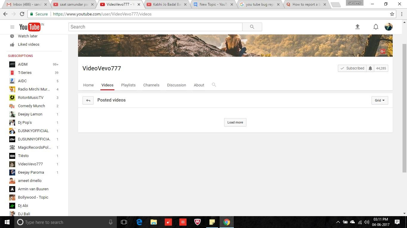 I found a bug in youtube when view channel - YouTube Help